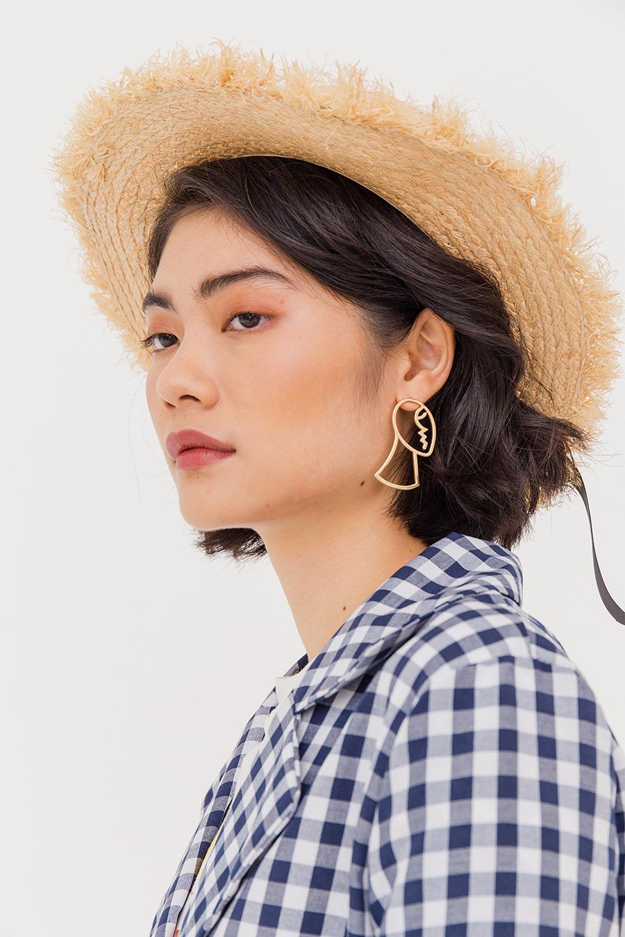 VISAGE EAR STUDS - GOLD