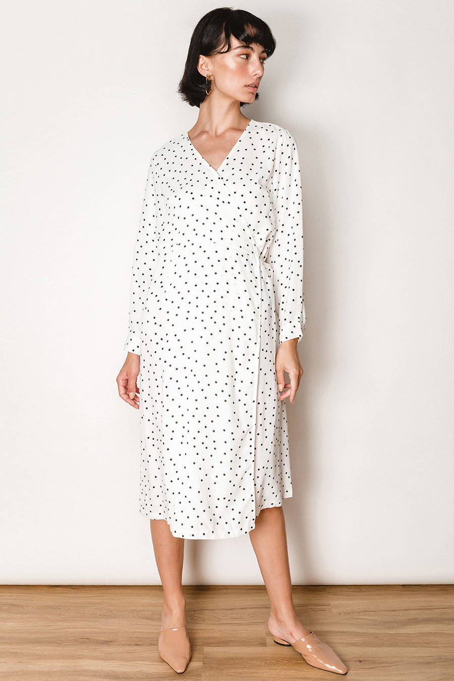 WANDA DRESS - IVORY DOTTY