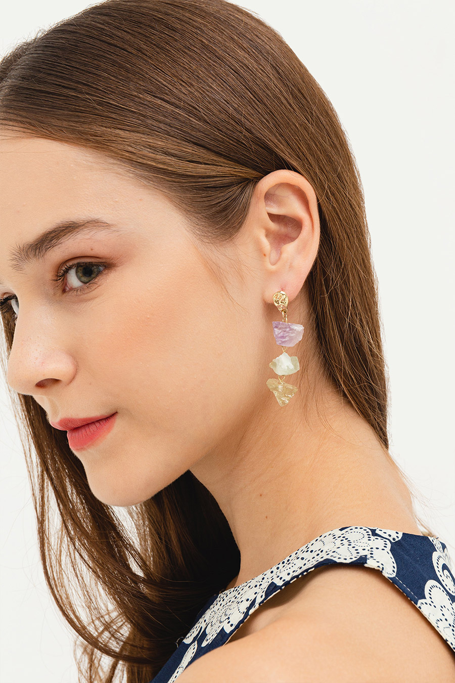 WHISPER EARRING - GEMSTONES