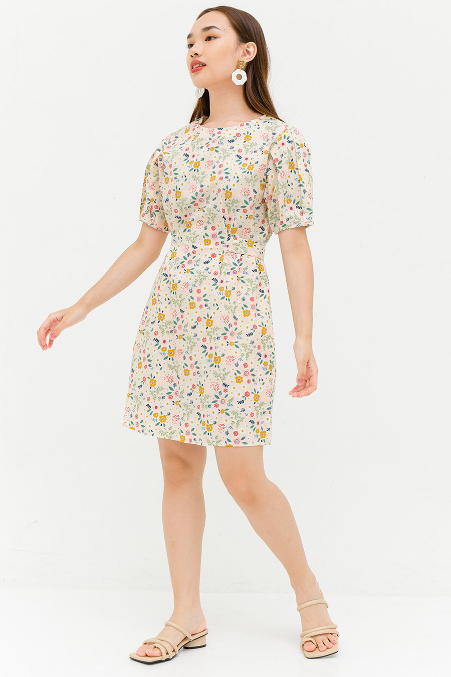 WILLETTE DRESS - CREME FLEUR