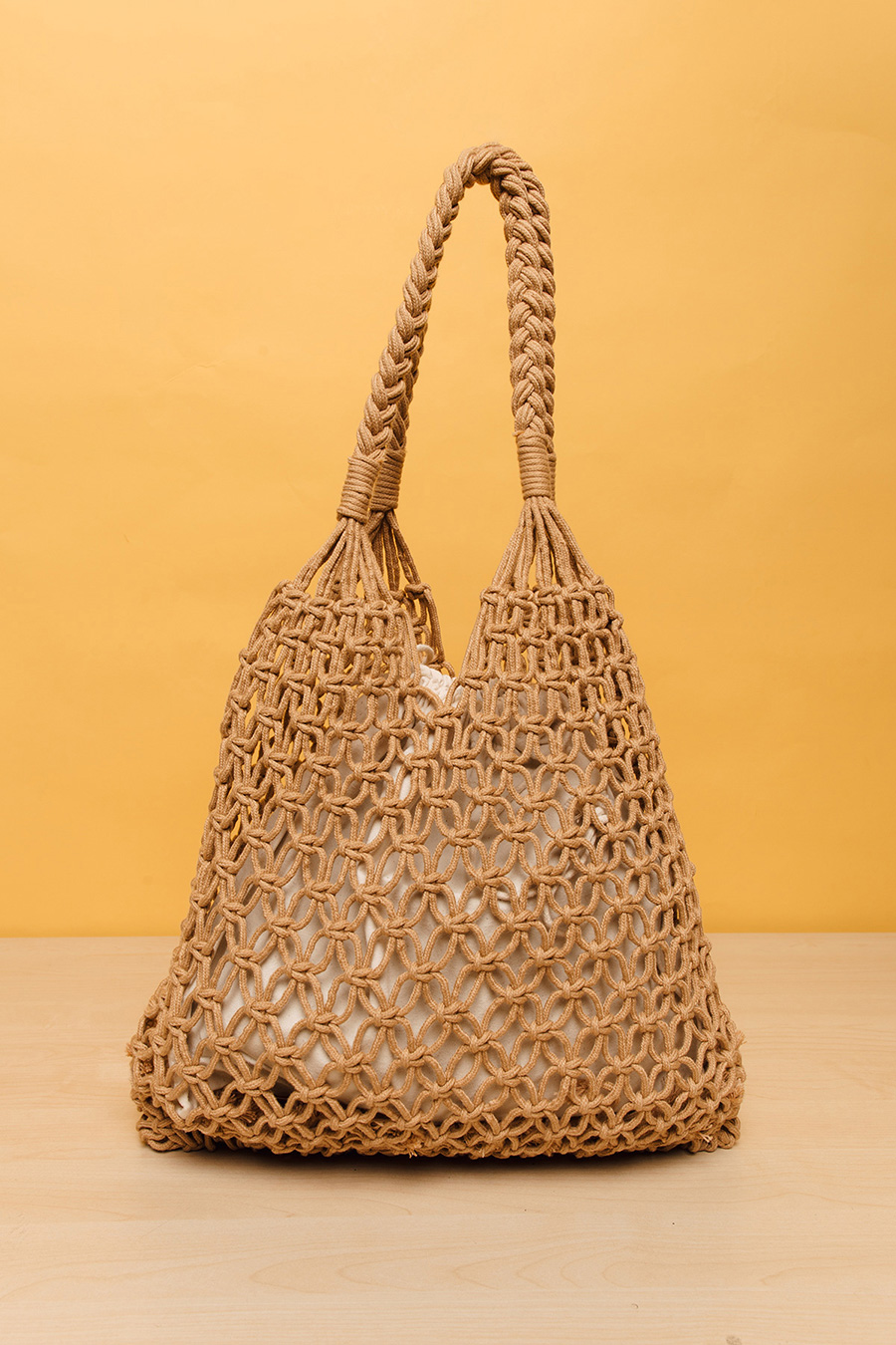 WILLOW WEAVE BAG - RUSSET