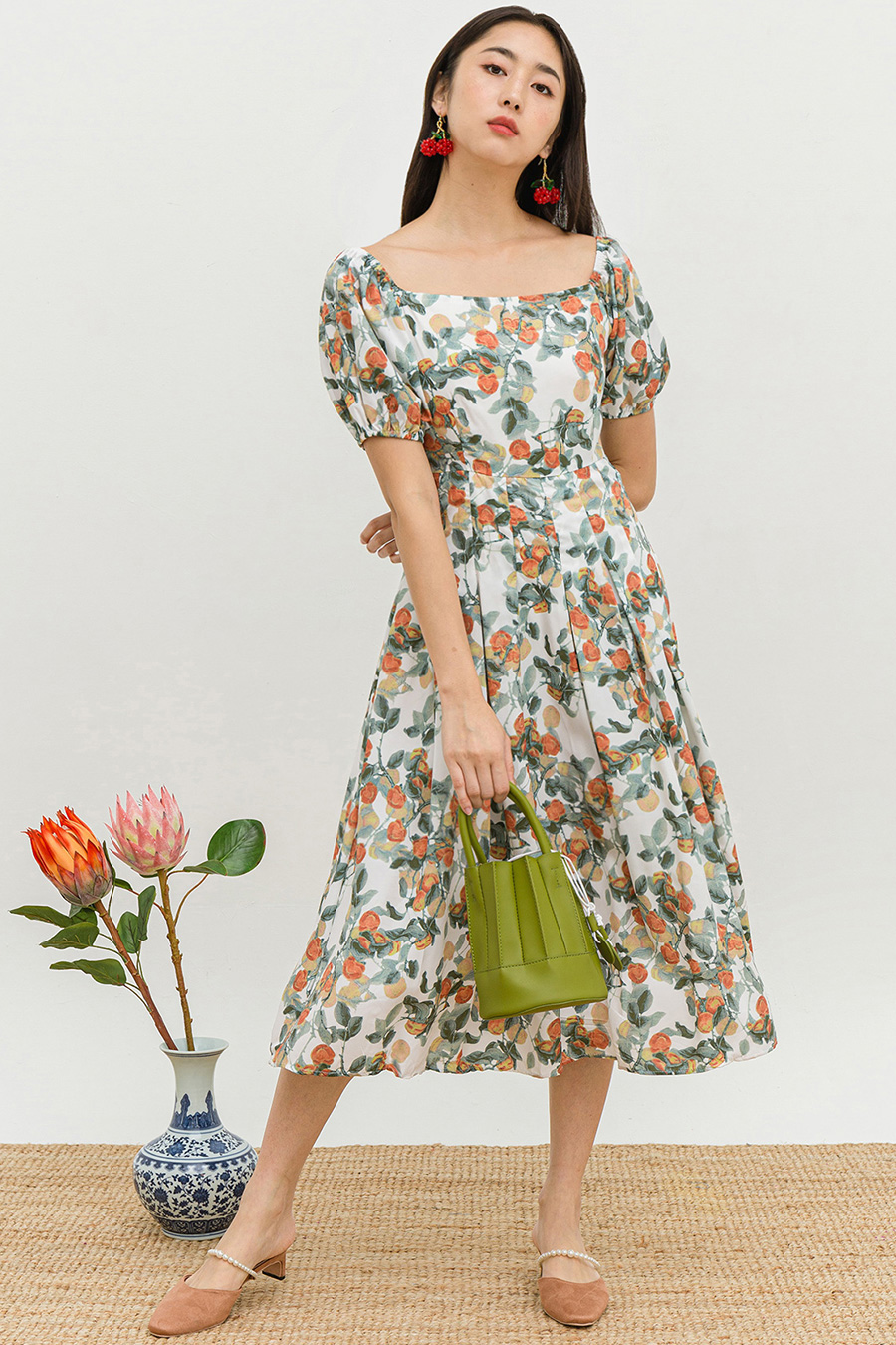 YATSUMU DRESS - TANGERINE