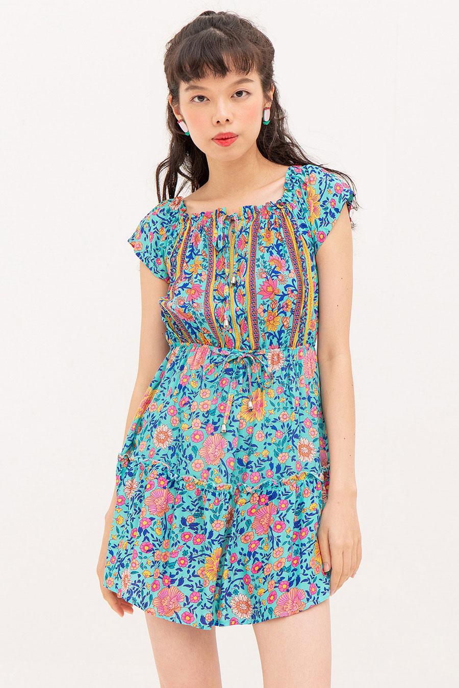 YULIE DRESS - PEONY