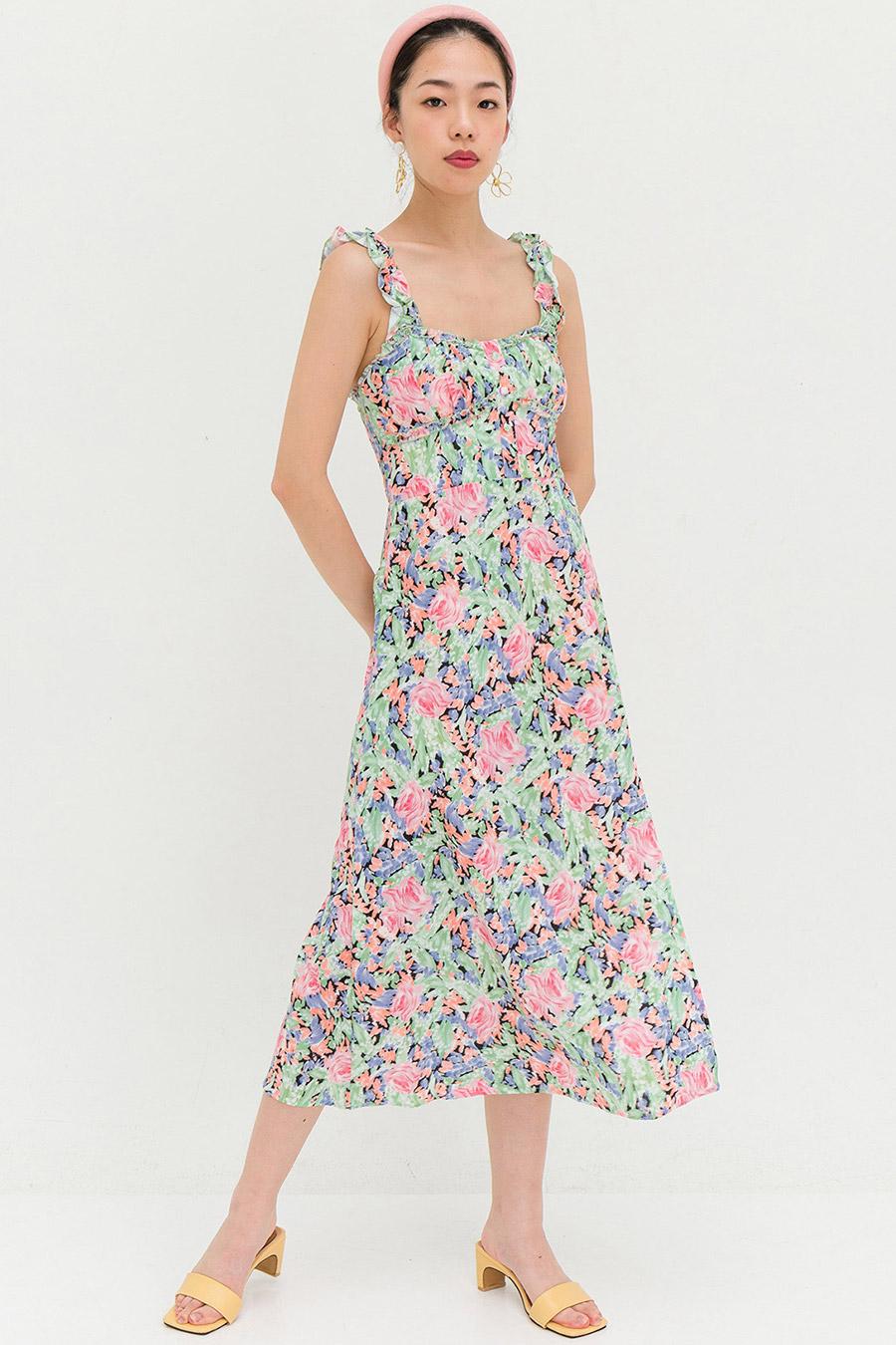 ZOEY DRESS - NOIR FLEUR